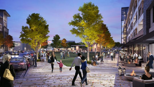 Rendering of Garden State Plaza's proposed mixed-use development.