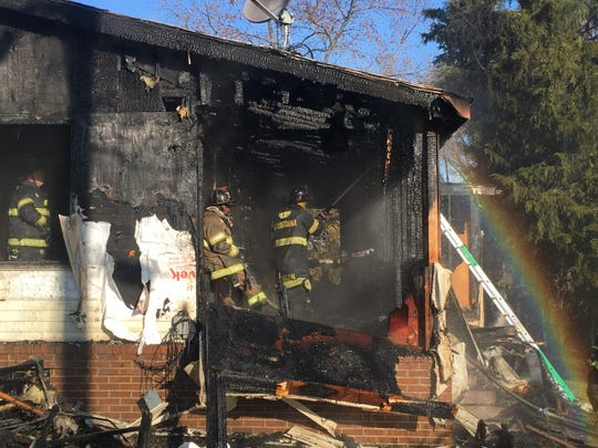 Firefighters responded to a house fire near Dupont Highway Tuesday morning.