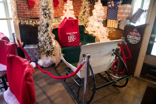 Klondike Kate's new pop-up bar 'The Sleigh Bar' is a holiday themed event featuring areas for festive photos and a special drink menu.