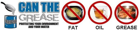 The city of Wichita Falls reminds citizens can the grease, don't pour oils, fats or grease down the drain.