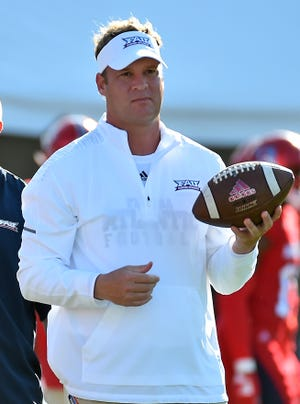 Lane Kiffin, completing his third season at Florida Atlantic, could be a candidate for the head coach opening at Arkansas.