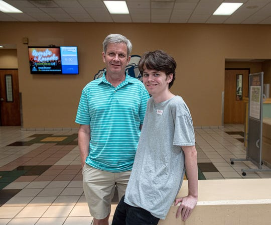 """Geoff Calkins and his son Andrew visited several college campuses before deciding on the University of Tennessee at Chattanooga, which has a special program for students on the autism spectrum. """"Not a lot of places have programs for kids with this sort of interesting cluster of challenges,"""" Geoff Calkins said."""
