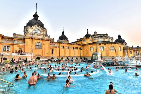Budapest's single best attraction: steamy Széchenyi Thermal Bath in City Park.