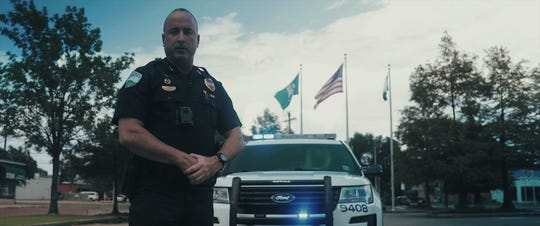 Chief Jerrod King appears in a recruiting video produced for the Alexandria Police Department in 2018. The department has 26 vacancies now.