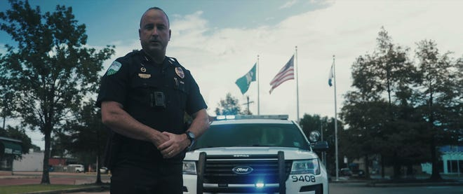 Chief Jerrod King appears in a recruiting video produced for the Alexandria Police Department in 2018.