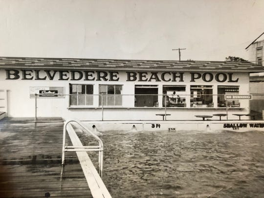 The Belvedere Beach Pool in Keansburg was a popular gathering spot.
