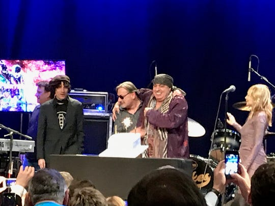 Little Steven Van Zandt and friends at the  First Annual Rock and Roll Forever Foundation Gala, Saturday, Nov. 23 at the Hard Rock Cafe in New York City.