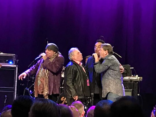 Little Steven Van Zandt (L-R), Eddie Brigati, Gary U.S. Bonds and Southside Johnny Lyon at the  First Annual Rock and Roll Forever Foundation Gala, Saturday, Nov. 23 at the Hard Rock Cafe in New York City.