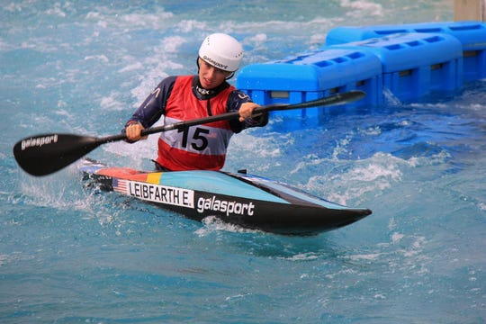 Evy Leibfarth, 15, of Bryson City, competed in the Ready Steady Tokyo Olympic Test Event in October on the 2020 Summer Olympics course. She was just named U21 Female Paddler of the Year by Kayak Sessions magazine.