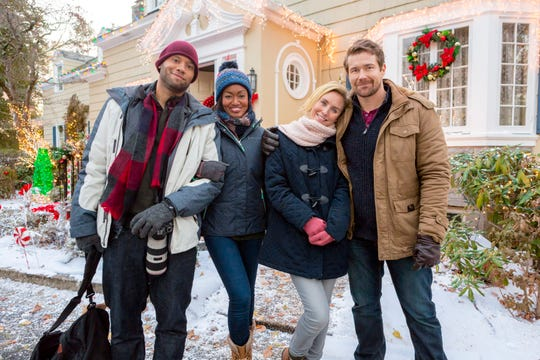 """""""Romance at Reindeer Lodge"""" uses the real-life town of Jamaica, Vermont as a setting, though the movie was filmed in Connecticut."""