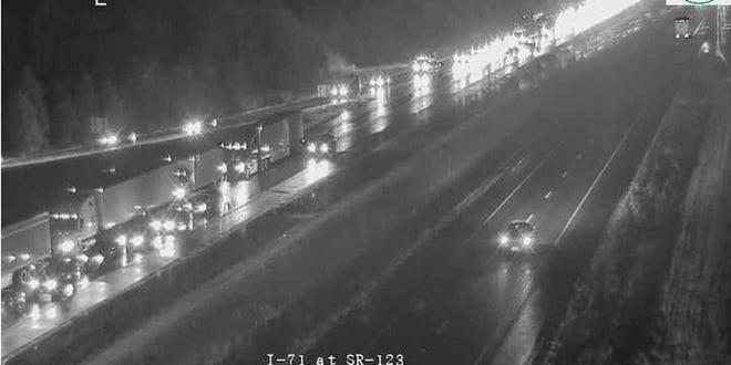 A fatal accident has shut down SB I-71 in south Leabnon.