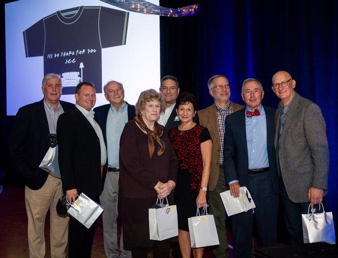 JCC past presidents (from left to right): Peter Horowitz, Seth Geldzahler, Doron Steger, Harriet Blank, Ken Bernstein, Addie Kluger, Richard Skydell, Barry Ages and David Bunevich. Not pictured is past President Alvin Levine.