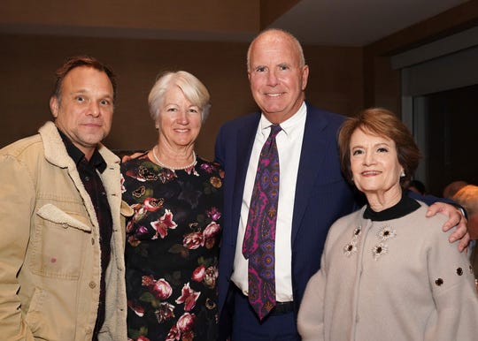 (Left to right) Two-time Tony Award Winner Norbert Leo Butz; Patricia Cummings; Kevin Cummings, chairman & CEO, Investors Bank; and Linda Wacks, Jeffrey Frank Wacks Memorial Fund