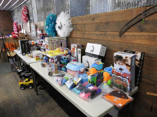 Toys and crafts for Christmas are some of the items found at the new Haaraman's Pallet Treasures in West Lafayette.