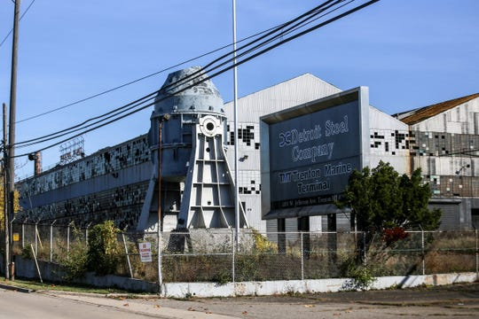 The Detroit Steel Company, later known as the McLouth Steel Company at 1491 W. Jefferson Ave. in Trenton, as it appeared in October 2017.