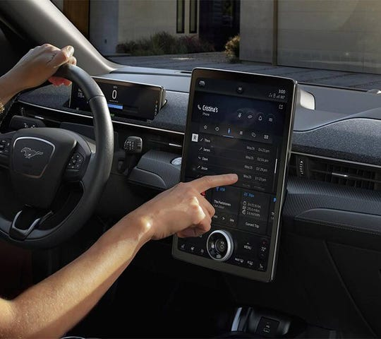 Advanced touch screens, like the one Ford promises for the Mustang Mach-E, rank high with customers.