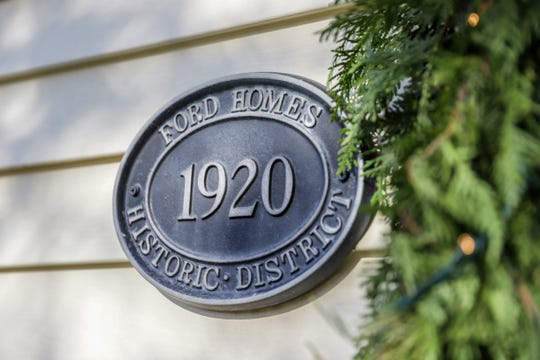 The home of Nolan and Susan Clark in Dearborn, Mich. will be featured in the Ford Homes Historic District Holiday Home Tour in celebration of the 100 year anniversary and is photographed on Tuesday, Nov. 26, 2019.