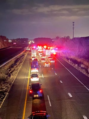 All northbound lanes of I-75 were closed for five hours Monday between Dort Highway and I-475, police said.