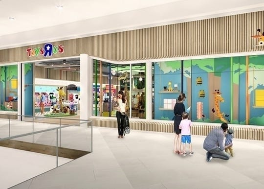 One of New Jersey's poshest malls will get the first revamped, post-bankruptcy Toys 'R' Us, just in time for the holiday season.
