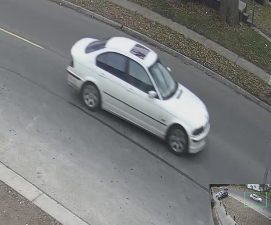 On Nov. 23 a white BMW, pictured, was involved in gun fight on Coyle St. on the west side of Detroit