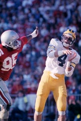 As a Michigan quarterback, Jim Harbaugh won both games he started against Ohio State.