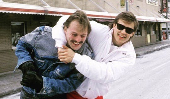 Steve Yzerman and Gerard Gallant were teammates with the Red Wings during the late 1980s and early 1990s.