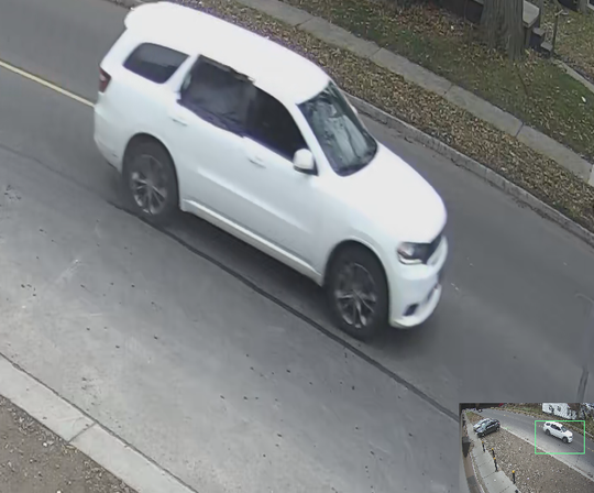 On Nov. 23 a white Dodge Durango, pictured, was involved in gun fight on Coyle St. on the west side of Detroit