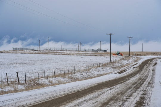 Eden Road, leading to a Minuteman III ICBM launch facility, is among the gravel roads slated for improvements.