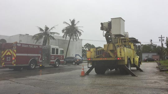 Guam Fire Department and Guam Power Authority responded to Department of Public Health and Social Services after Tropical Storm Kammuri passed south of Guam Nov. 27.