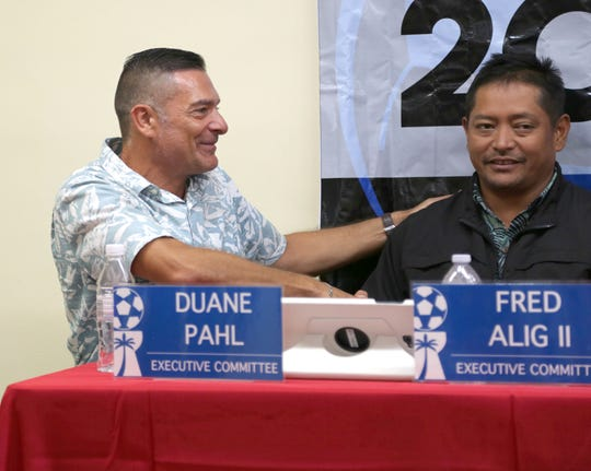 Wings FC President Duane Pahl, left, became the newest member of the Guam Football Association Executive Committee.