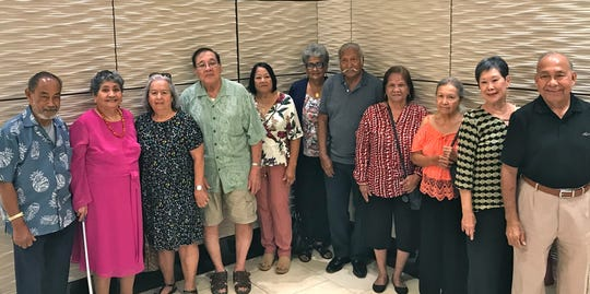 The George Washington High School Class of 1962 held its quarterly luncheon Nov. 23 at Joinus Restaurant. Pictured from left: Felix Babauta, Rosario Santos, Frances Camacho, Frank Ichihara, Maria Acfalle, Rita Salas, Woodrow Concepcion, Fely Sablan, Virginia Shimizu, Marietta Camacho, and Pete Babauta.