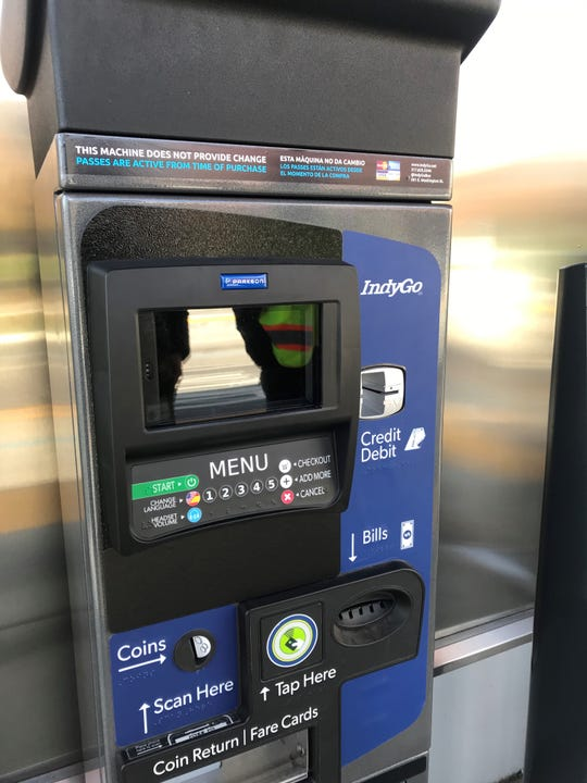 Temporary ticketing machines for the Red Line will be available to use starting Dec. 1 at all stations and the Julia M. Carson Transit Center.