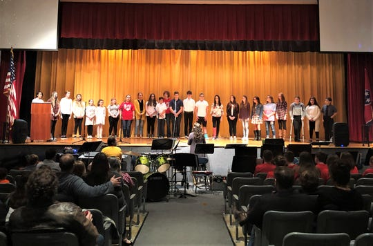 "The Halls Middle School Chorus performed ""Shenandoah"" at the first Multicultural Night on Friday, Nov. 22."