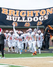 Brighton will play in a state football championship game for the first time when it faces Davison at 1 p.m. Saturday at Ford Field.