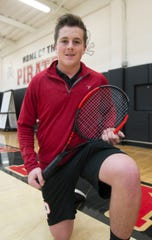Sebastian Smith of Pinckney High School, shown Tuesday, Nov. 26, 2019, has been named All-County Tennis Player of the Year.