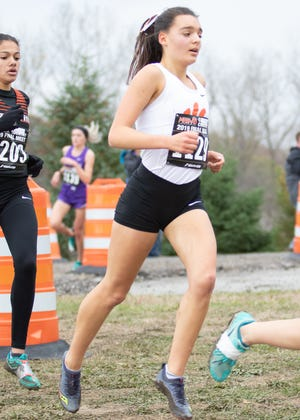 Katie Carothers had Brighton's best state girls cross country finish in 12 years.