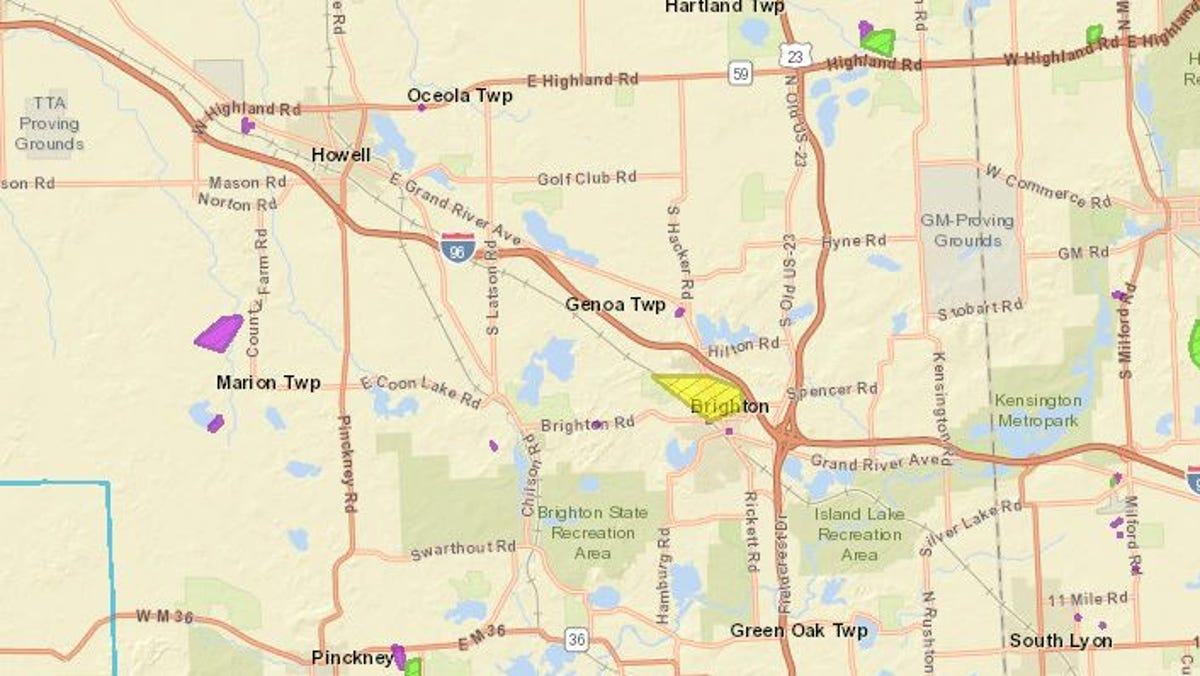 Winds causing power outages across Livingston County