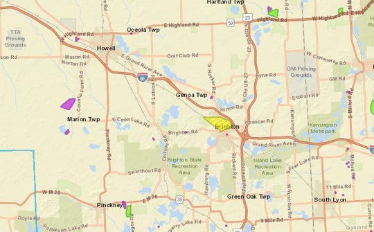 High winds has left DTE Energy customers without power across county  Wednesday Nov. 27, 2019.