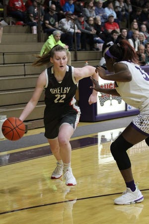 Shelby's Emma Randall leads the Lady Whippets into a big MOAC contest against Marion Harding on Saturday.