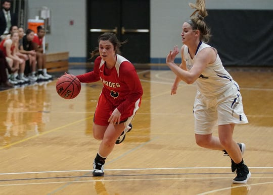 Rhodes College senior Alyssa Owens (left) has twice been named the Southern Athletic Association Women's Basketball Player of the Week this season. In her first six games, the Russellville, Ark., native is averaging 19.5 points.