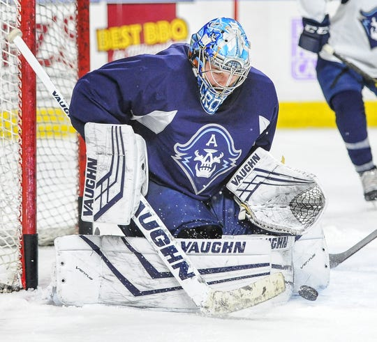 Admirals goaltender Troy Grosenick leads the AHL with a 2.02 goals-against average.