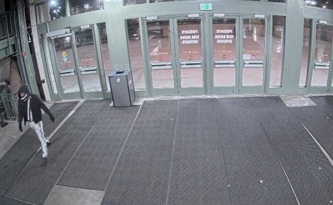 Milwaukee police asked the public to help identify this man, who they said is a suspect in a burglary at Miller Park.
