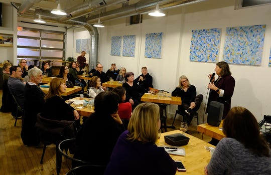 Julie Helmrich dispenses life advice once a month at Vennture Brew Co.