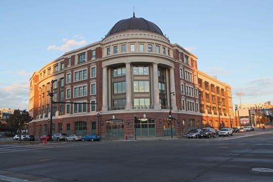 The Palladium, a new five-story office building at North Water and East Knapp streets, is anchored by Hammes Co., which moved there from Brookfield