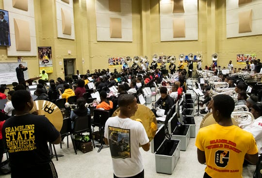 Grambling State band practices ahead of the Bayou Classic on Nov. 26. in Grambling, La.