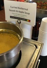 Spangler Farms Market provided apples for a soup served at the recent Food Summit at Ball State University.