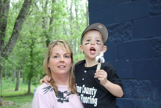 Connor Fleming and his mother, Monica.