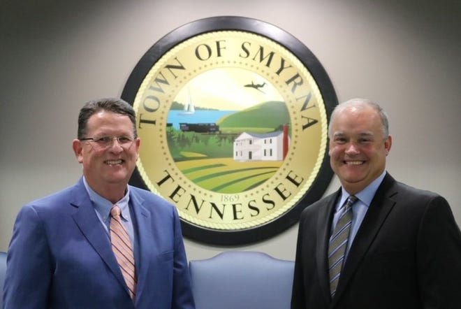 Rex Gaither (left) and Todd Spearman (right) will serve as the first assistant town managers for Smyrna beginning next year.