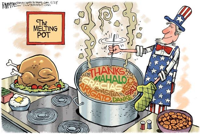 Thanks in USA melting pot.