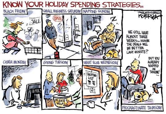 Shopping after Thanksgiving.